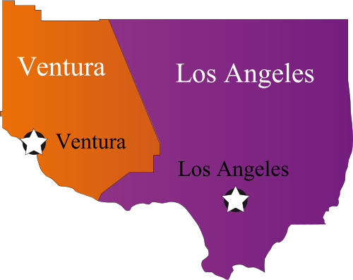 Ventura and Los Angeles state